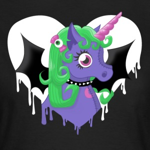 Schwarz creepy cute unicorn T-Shirts - Frauen T-Shirt