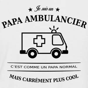 papa ambulancier Tee shirts - T-shirt baseball manches courtes Homme