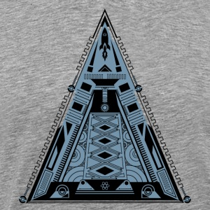 Piramide, driehoek, raket, ruimteschip, cool, Geek T-shirts - Mannen Premium T-shirt
