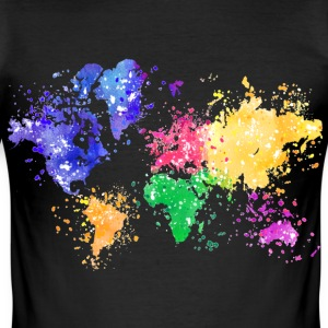 Rainbow Map Shirt - Men's Slim Fit T-Shirt