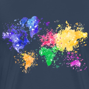 Rainbow Map Shirt - Men's Premium T-Shirt
