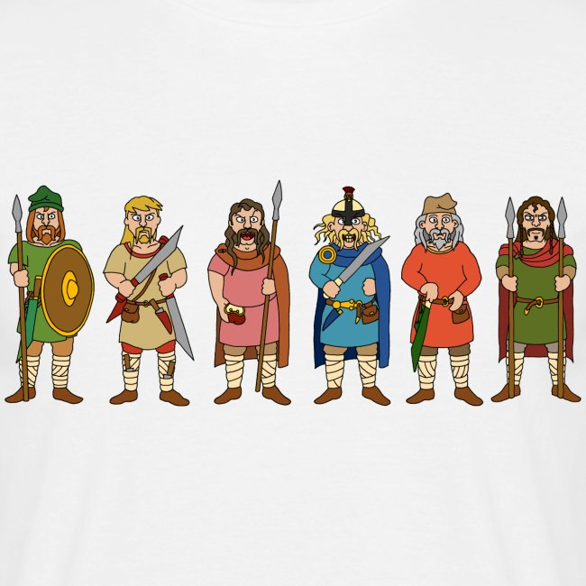 Early Saxon Warriors (Front)