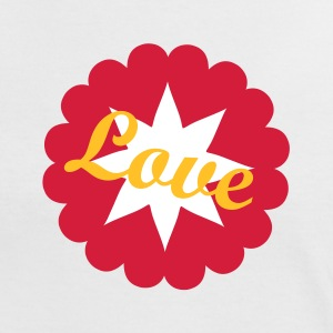 Love Heartflower - Dame kontrast-T-shirt