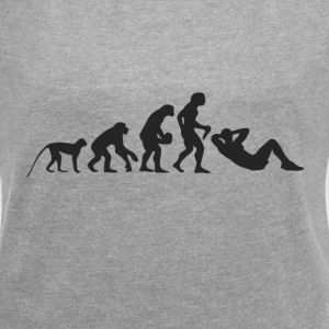 Evolution Fitness T-Shirts - Frauen T-Shirt mit gerollten Ärmeln