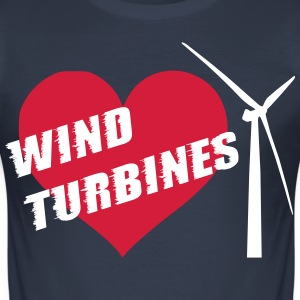 I love wind turbines! T-Shirts - Men's Slim Fit T-Shirt