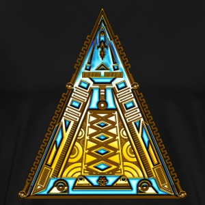 Pyramid, triangle, geek, nerd, sci-fi, tech, space T-Shirts - Men's Premium T-Shirt