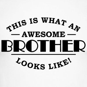 This is what an awesome brother looks like Langarmshirts - Männer Baseballshirt langarm