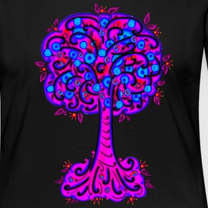 Tree, blossoms, forest, hiking, vegan, save nature Long Sleeve Shirts - Women's Premium Longsleeve Shirt