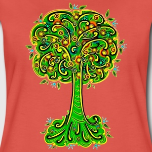 Tree, blossoms, forest, hiking, vegan, save nature T-Shirts - Women's Premium T-Shirt