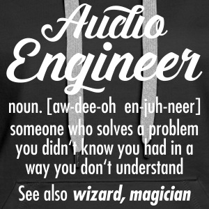 Audio Engineer - Definition Tröjor - Premiumluvtröja dam