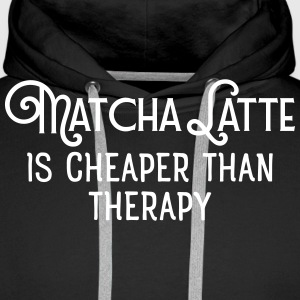 Matcha Latte Is Cheaper Than Therapy Sweat-shirts - Sweat-shirt à capuche Premium pour hommes