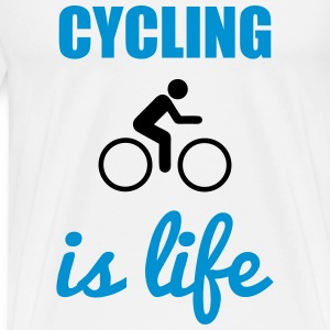 Cycling is life  Fahrrad t-shirt  - Men's Premium T-Shirt