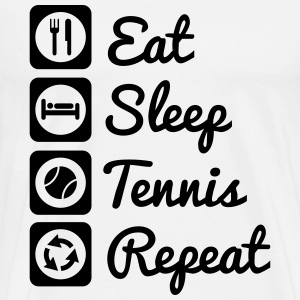 Eat sleep tennis repeat T-shirts - Herre premium T-shirt