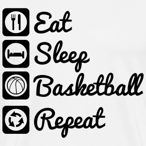 Eat,sleep,basketball,repeat - Männer Premium T-Shirt