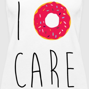 I Donut Care Funny Quote Tops - Women's Premium Tank Top