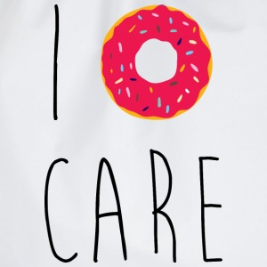 I Donut Care Funny Quote Bags & Backpacks - Drawstring Bag