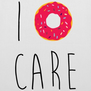I Donut Care Funny Quote Sacs et sacs à dos - Tote Bag