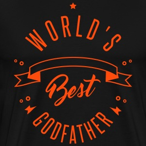 WORLD'S BEST GODFATHER - Männer Premium T-Shirt