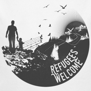 Refugees Welcome - Baby Bio-Langarm-Body