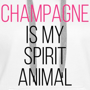 Champagne Spirit Animal Funny Quote Gensere - Premium hettegenser for kvinner