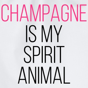 Champagne Spirit Animal Funny Quote Bags & Backpacks - Drawstring Bag