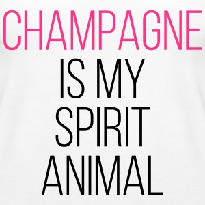 Champagne Spirit Animal Funny Quote Tops - Vrouwen Premium tank top