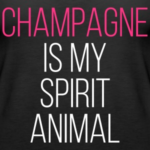 Champagne Spirit Animal Funny Quote Tops - Women's Premium Tank Top