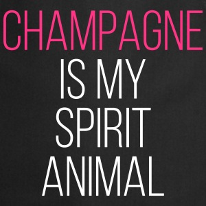 Champagne Spirit Animal Funny Quote Kookschorten - Keukenschort