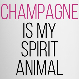 Champagne Spirit Animal Funny Quote Mugs & Drinkware - Mug