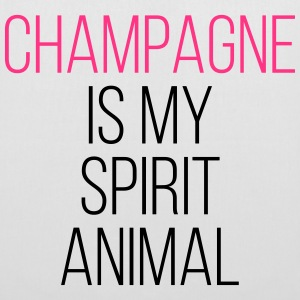 Champagne Spirit Animal Funny Quote Sacs et sacs à dos - Tote Bag