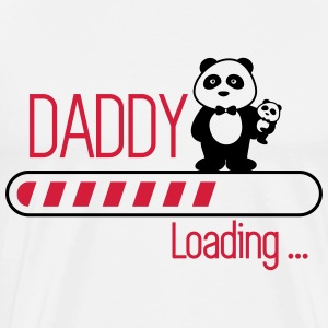 Daddy loading Dad Opa Papà  - Premium T-skjorte for menn