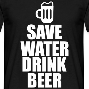 Save water drink beer  - Mannen T-shirt
