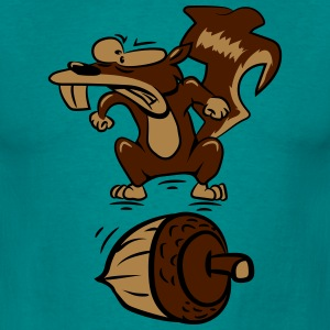 Squirrel witty nut angry T-Shirts - Men's T-Shirt