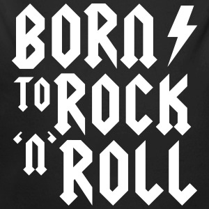 Born to rock n roll Body neonato - Body ecologico per neonato a manica lunga