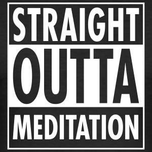 Straight Outta Meditation T-skjorter - Slim Fit T-skjorte for menn