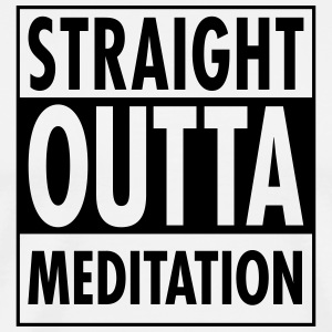Straight Outta Meditation T-shirts - Mannen Premium T-shirt