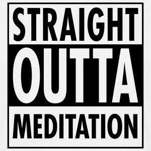 Straight Outta Meditation T-skjorter - T-skjorte for menn