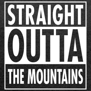Straight Outta The Mountains T-shirts - T-shirt med upprullade ärmar dam