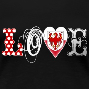 Love Südtirol White - Frauen Premium T-Shirt