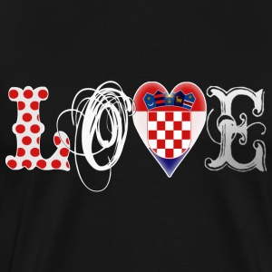 Love Croatia White - Männer Premium T-Shirt