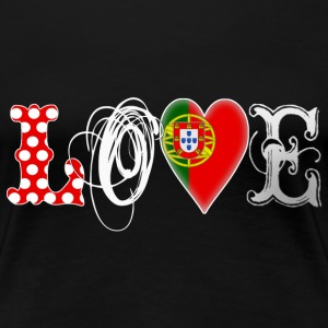 Love Portugal White - Frauen Premium T-Shirt