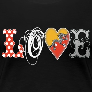 Love Bhutan White - Frauen Premium T-Shirt