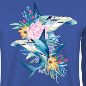 Animal Planet Cute Hammerhead Sharks Flowers - Men's Sweatshirt