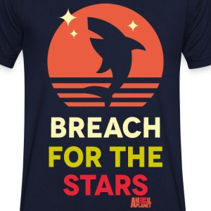 Animal Planet Hai Breach For The Stars - Männer T-Shirt mit V-Ausschnitt