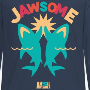 Animal Planet Ocean Humour Sharks Are Jawsome - Teenager premium T-shirt med lange ærmer