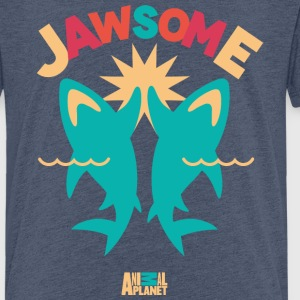 Animal Planet Ocean Humour Sharks Are Jawsome - Teenage Premium T-Shirt