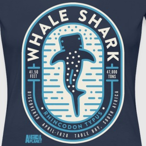 Animal Planet Whale Shark Educational Facts - Dame premium T-shirt
