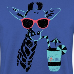 Animal Planet Africa Giraffe With Cocktail - Men's Sweatshirt