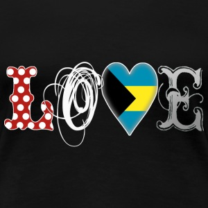 Love Bahamas White - Frauen Premium T-Shirt
