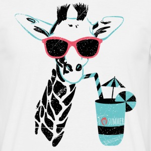 Animal Planet Africa Giraffe With Cocktail - T-shirt herr